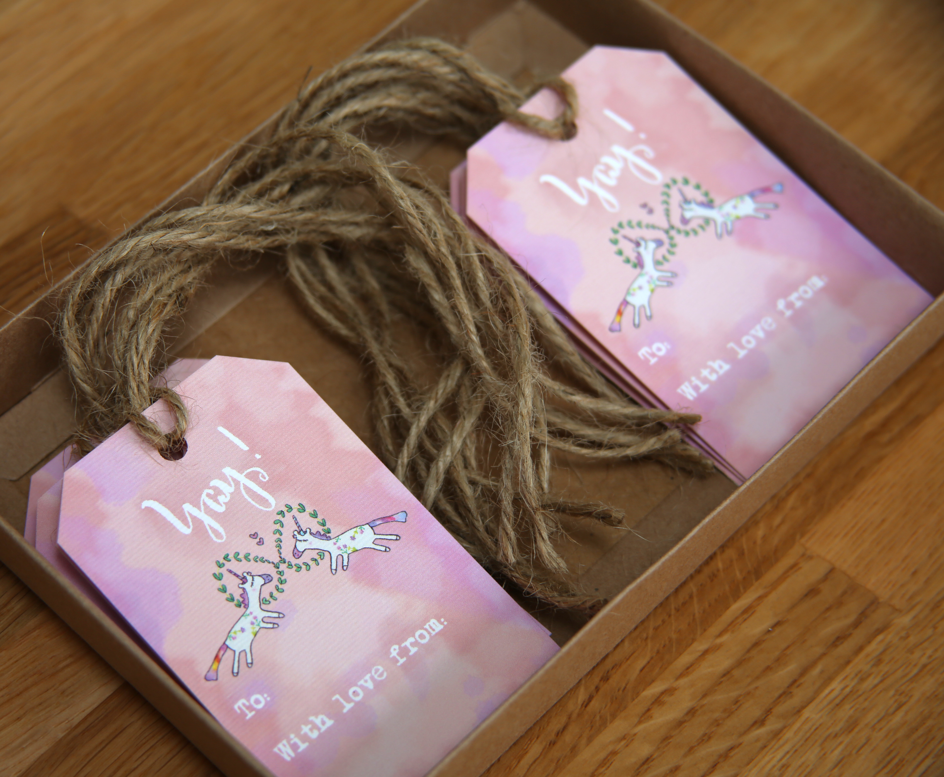 Unicorn Calligraphy Gift Tags