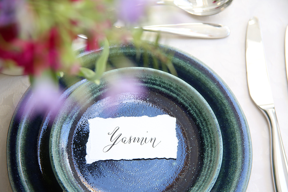 Modern Calligraphy Table Setting Place Name Card