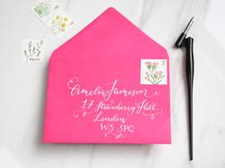 calligraphy envelope london invite