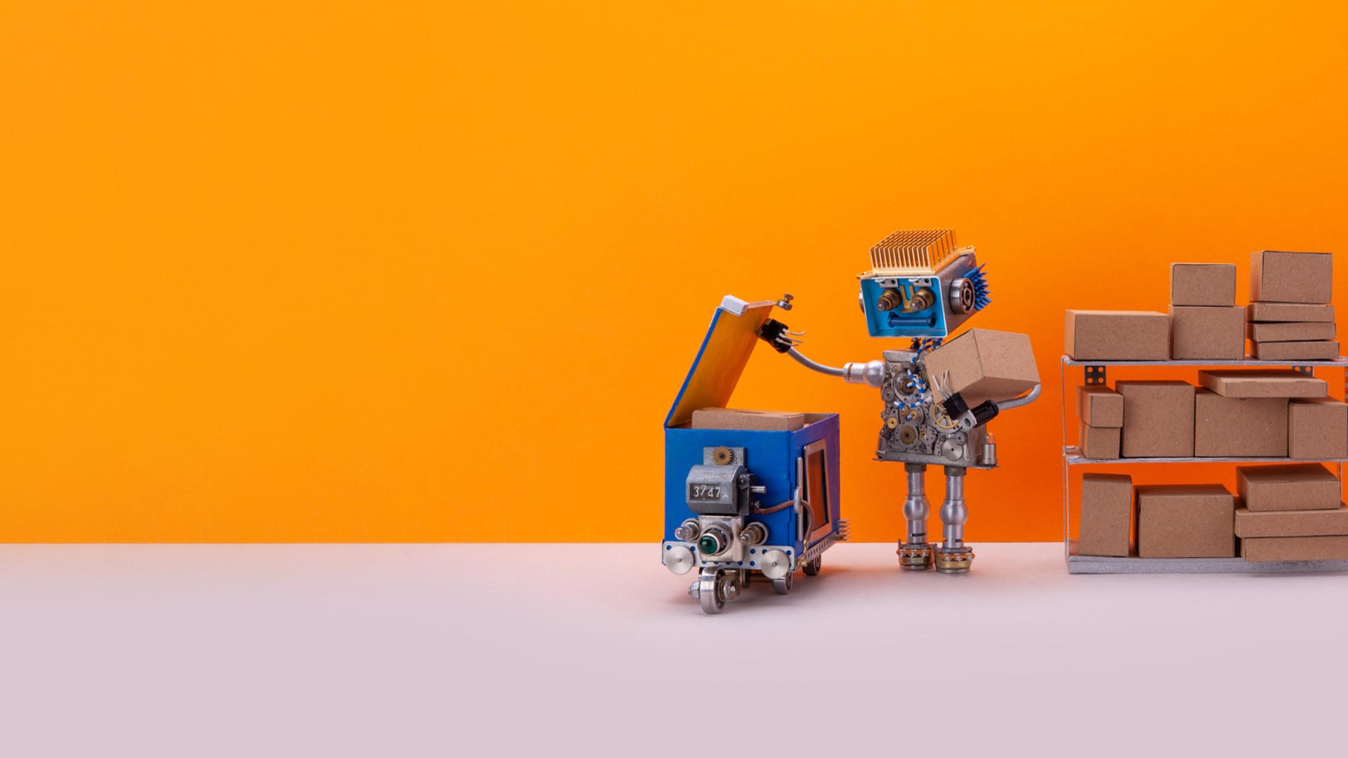 robot-storekeeper-uploads-parcels-into-a