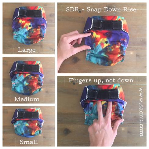 SDR - Snap Down Rise cloth nappies