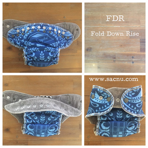 FDR - Fold Down Rise cloth nappies