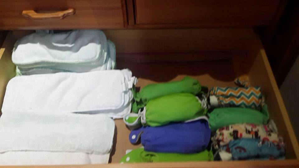 Cloth nappy storage idea 2