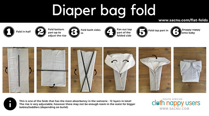 Diaper bag fold southafrican clot nappy usrs