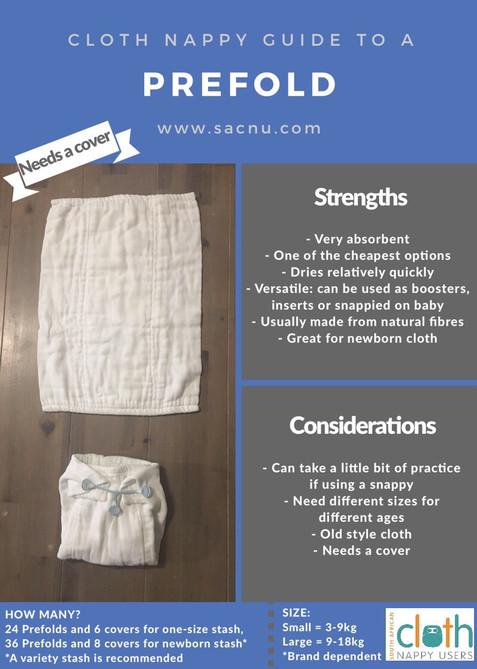 SACNU Cloth Nappy Guide - Prefold