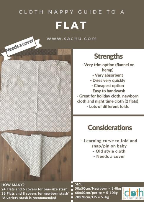 SACNU Cloth Nappy Guide - FLAT