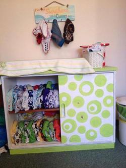 Cloth nappy storage idea 5