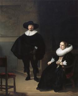 Rembrandt van Rijn - A Lady and Gentleman in Black
