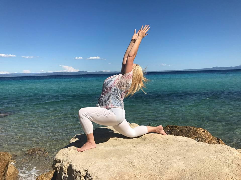 Yoga on Rock Greece