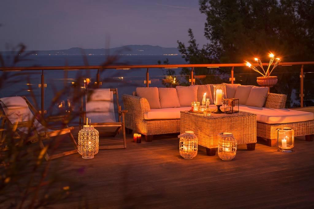 Greek Reatreat Villa 2 Evening terrace