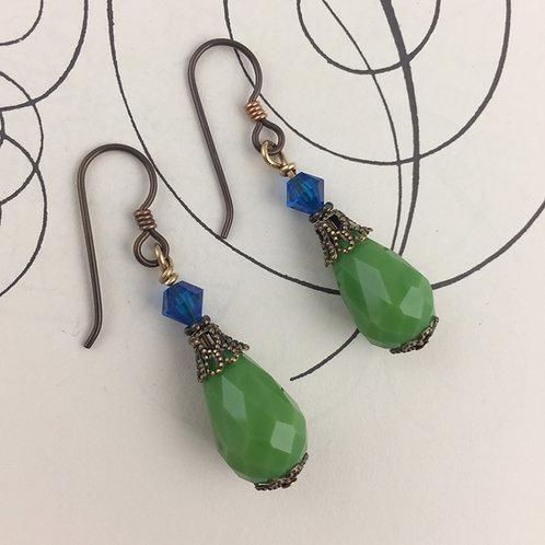 Brass Seahawk Earrings