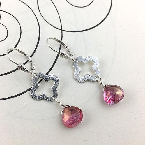 Venetian Cherry Quartz Earrings