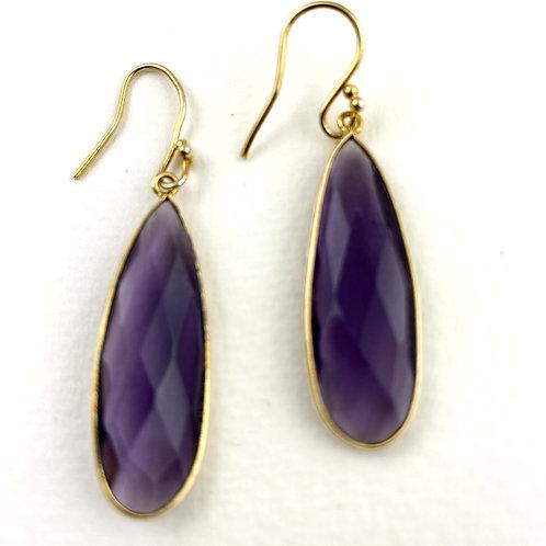 Large Purple Quartz Earrings