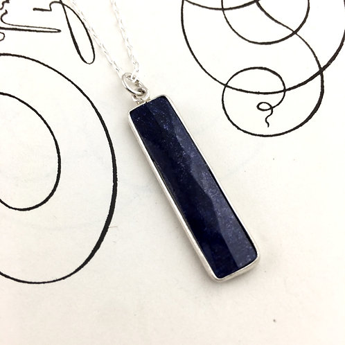 Sodalite Rectangle Necklace