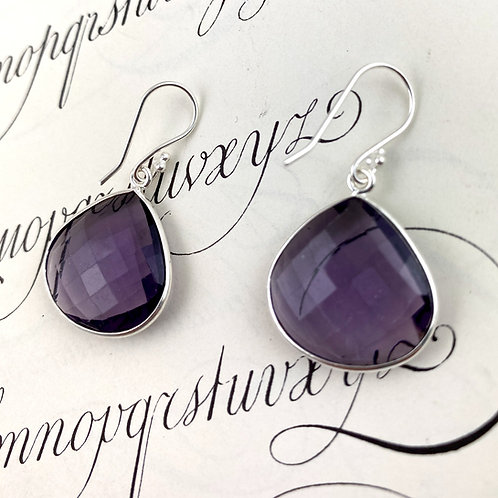 Large Purple Quartz arrings