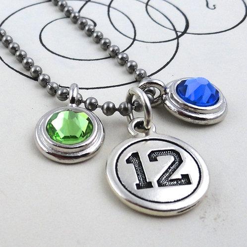 Seahawk 12 Charm Necklace