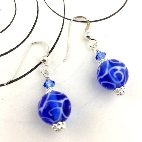 Classic Azul Blue Earrings