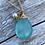 Thumbnail: Aqua Blue Chalcedony Gold Necklace