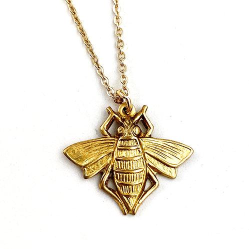 Petite Bee Pendant Necklace