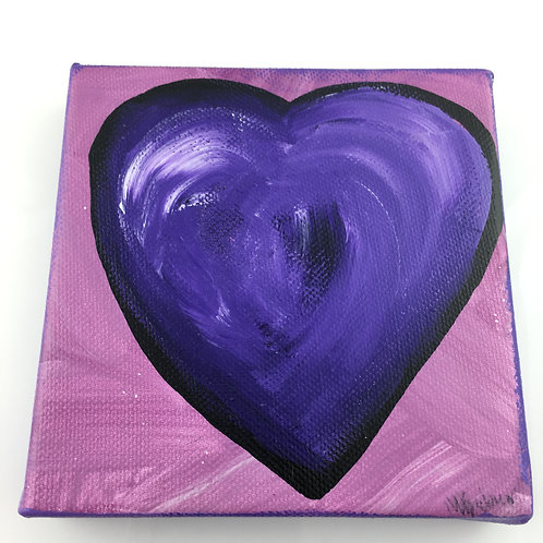 Heart Collage Painting -  Purple Heart