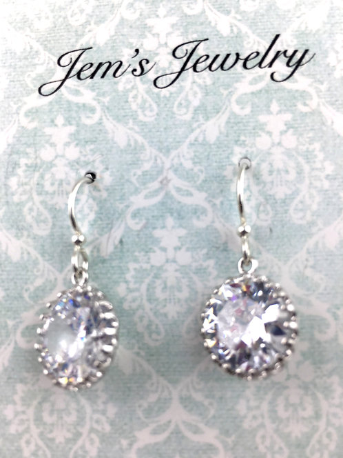 Sparkly Clear Crystal Earrings
