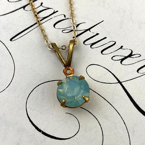 Petite Crystal Pendant Necklace