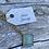 Thumbnail: Aqua Blue Chalcedony Diamond Shaped Gold Necklace