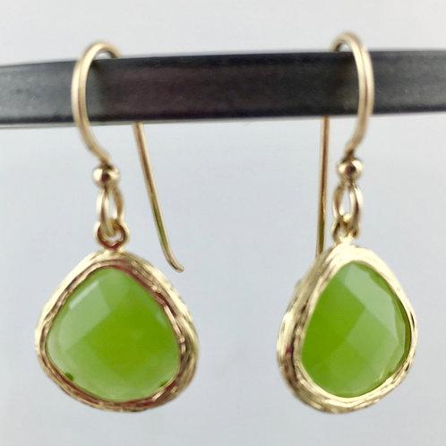 Apple Green Seahawk Earrings