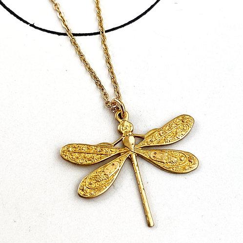 Petite Dragonfly Pendant Necklace