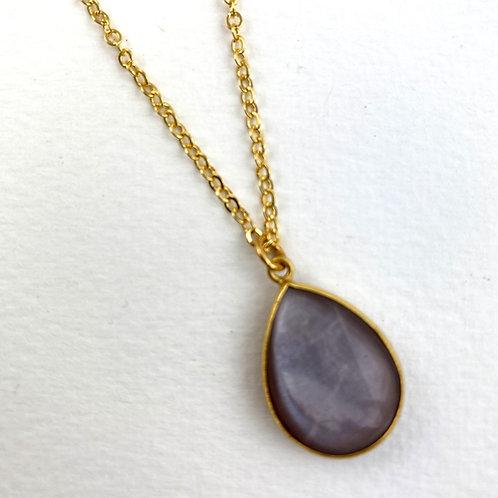 Favorite Stone Teardrop Necklace