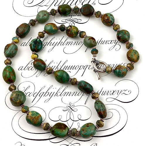 Sage Green Turquoise Statement Necklace