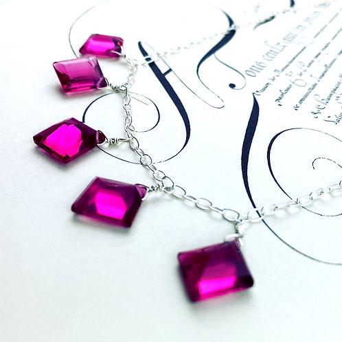 Magenta Crystal Necklace