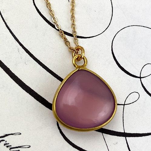 Cherry Chalcedony Pendant Necklace