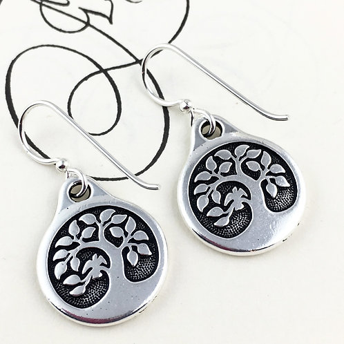 Tree of Life Earrings with Bird