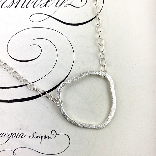 Abstract Sterling Silver Linked Necklace