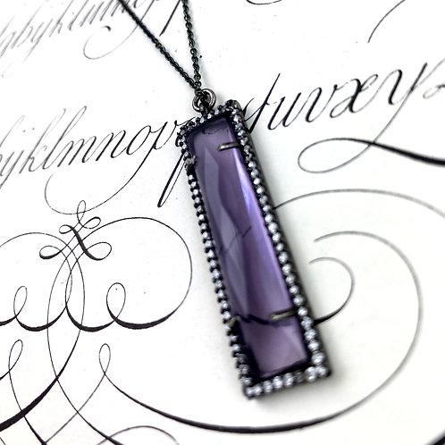 Sparkling Purple Quartz Necklace