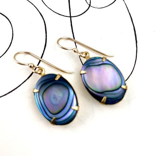 Abalone Vintage  Earrings