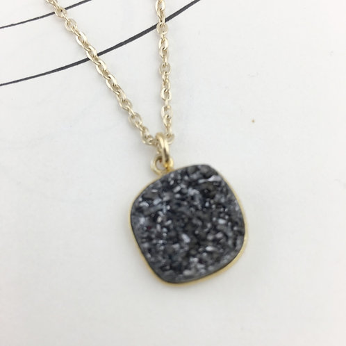 Druzy Square Necklace