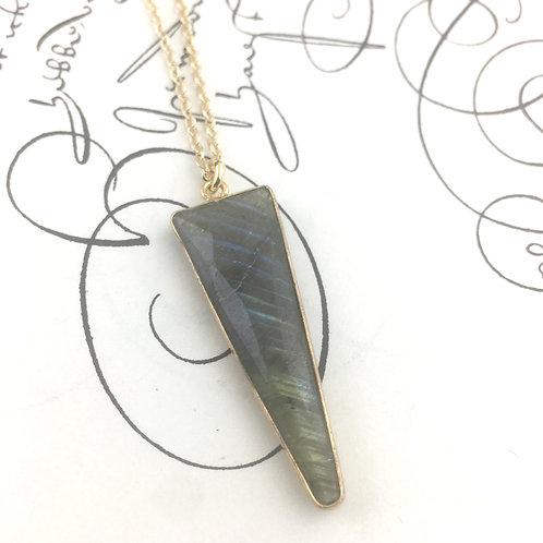 Labradorite Triangle Necklace