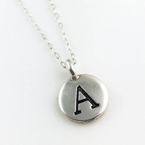 Embossed Initial Necklace