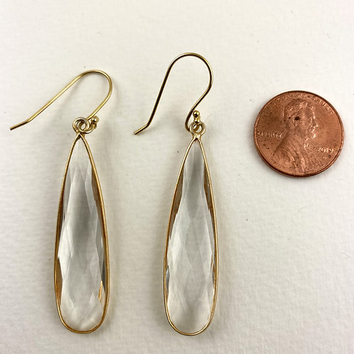 Large Clear Crystal Earrings