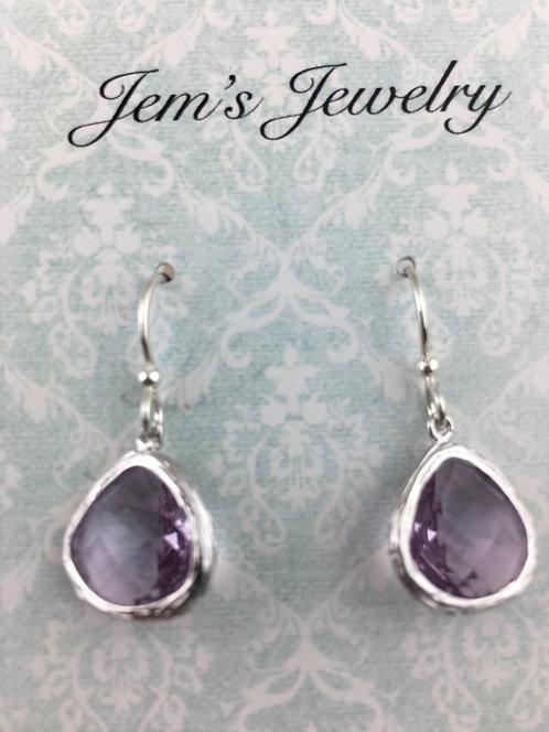 Lilac Crystal Earrings