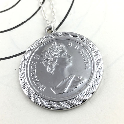 Greek Goddess Silver Pendant Necklace