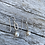 Thumbnail: Petite Pearl Oval Chain Sterling Earrings