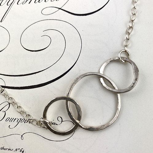 Fused Silver Linked Necklace - Variation 2