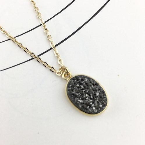 Druzy Oval Necklace