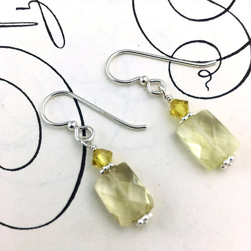 Daffodil Lemon Quartz earrings