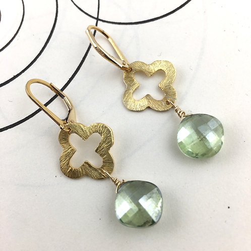 Venetian Green Quartz Earrings