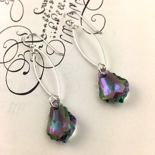 Sparkly Paradise Swarovski Crystal Marquis Chain Earrings
