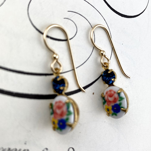 Floral Vintage  Earrings
